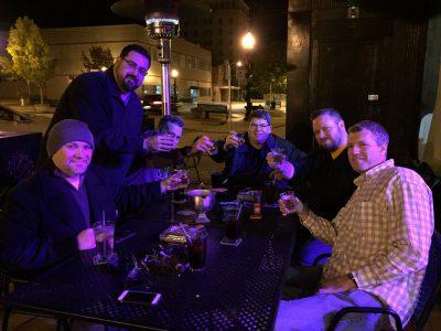 The TNCC boys and the RoMa Craft crew finish the night off at O'Briens Irish Pub.