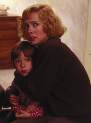 Catherine Hicks and Alex Vincent from the original Child's Play. Ms. Hicks did not reprise her role in the sequel but Vincent returned as young Andy Barclay.