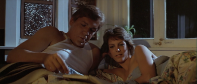 Jamie Lee Curtis looks almost as satisfied post coitus with Tom Atkins as Tut looked after smoking tonight's cigar.