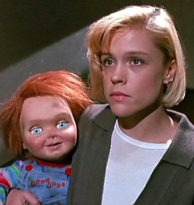 Before she played with Brandon Walsh's heartstrings as Emily Valentine on 90210, Christine Elise had to deal with Chucky.